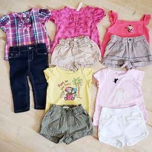 5 Baby Girl Outfits - Mix & Match
